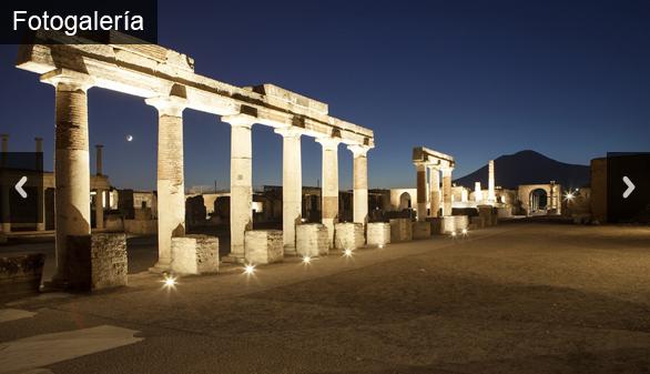 Pompeya estrena visitas nocturnas con nueva iluminación LED