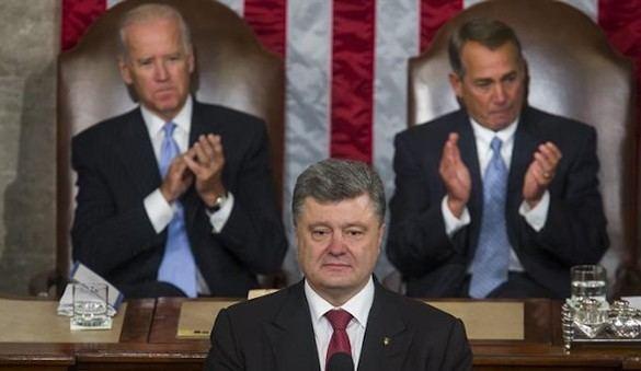 Poroshenko, al Congreso de EEUU: 'La guerra no se gana con mantas'