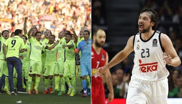 El Barcelona gana la Liga y el Madrid conquista la Copa de Europa