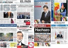 Rajoy toma el control de la Generalidad