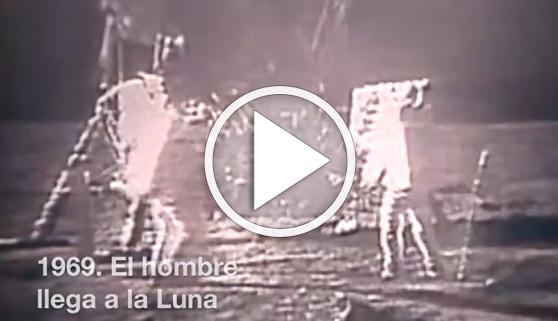 Vídeos virales. El descenso del paro, equiparable a la llegada a la luna