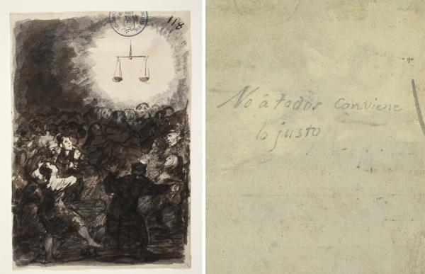 Hallado un texto manuscrito de Goya que da título a uno de sus grabados