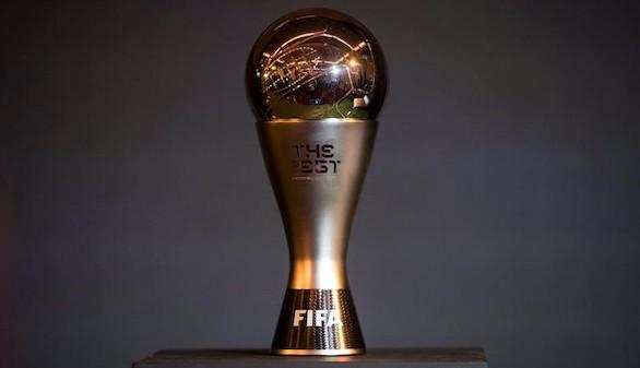 Vista del trofeo del premio 'The Best' de la FIFA durante la gala en la que se anunció a los finalistas en el centro de Londres, en Reino Unido este viernes, 22 de septiembre de 2017. La ceremonia tendrá lugar el 23 de octubre en Londres.