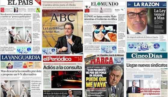 Revista de prensa: Mas, 'game over'