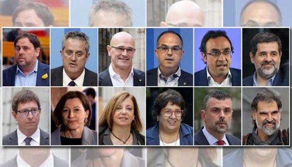 Las penas y delitos de los 12 acusados en el juicio del procés