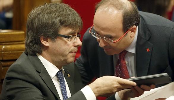 Puigdemont propone a excargos de PSC para coordinar el Pacto