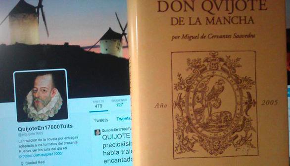 Romper 'El Quijote' en 17.000 tuits, una aventura a punto de concluir