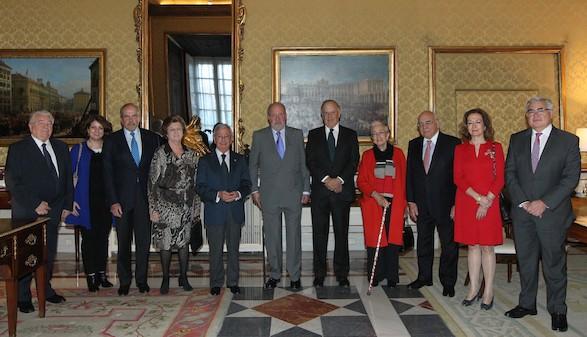 El Rey Emérito don Juan Carlos recibe en audiencia a la Junta Directiva de la RAG