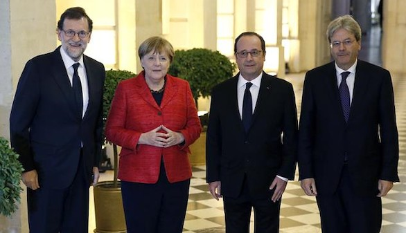 Rajoy, Hollande y Merkel apuestan por una UE a varias velocidades