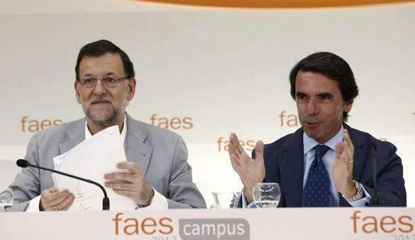 Mariano Rajoy y José María Aznar en una imagen de archivo