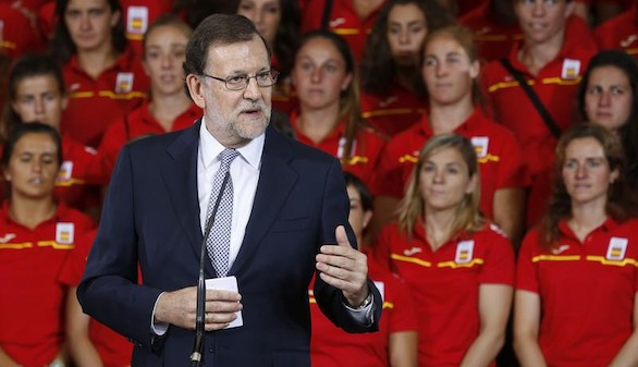 Rajoy despide en La Moncloa a la delegación española de Río