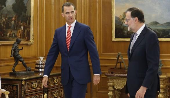 El Rey recibe a Rajoy en su habitual despacho semanal