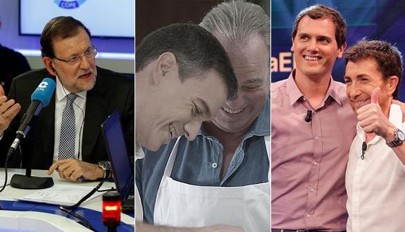 Los candidatos libran la batalla electoral en televisión