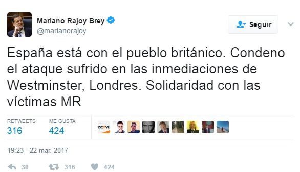 Los Reyes y Rajoy muestran el apoyo de España