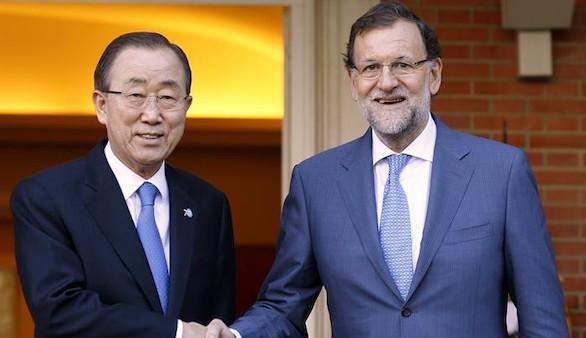 Ban valora el liderazgo de España en materia de paz, pobreza y derechos