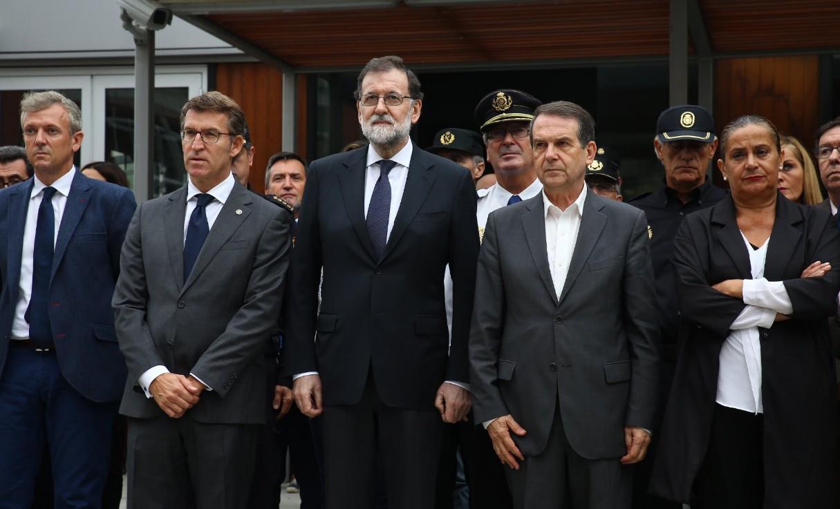 Feijóo recibe a Rajoy en Vigo y denuncia el