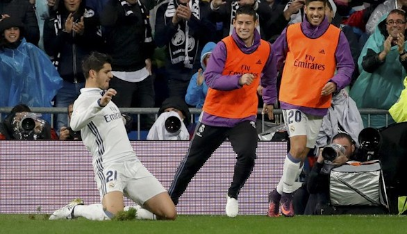 Morata celebra cumpleaños poniendo al Madrid líder  2-1