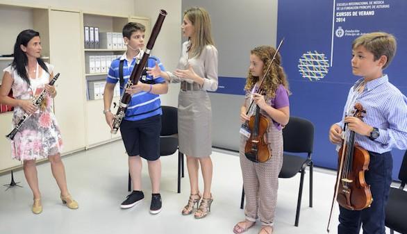 La Reina abrirá los Cursos de la Escuela de Música Princesa de Asturias