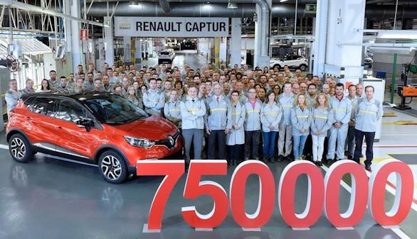 Valladolid supera las 750.000 unidades del Renault Captur
