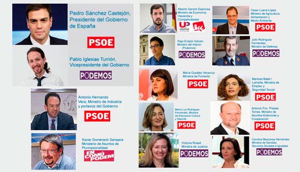 Podemos ya se reparte las carteras con el PSOE e Izquierda Unida