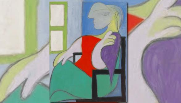 Femme assise près d'une fenêtre (Marie-Thérèse). Pablo Picasso.