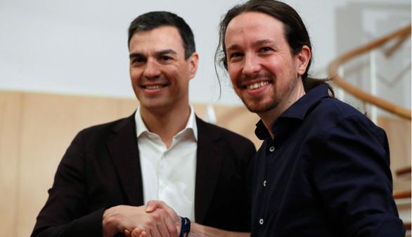 Sánchez e Iglesias coinciden en su objetivo: echar a Rajoy