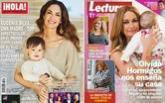 Eugenia Silva y Olvido Hormigos posan con sus hijos