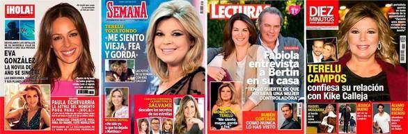 Portadas de las revistas del corazón del 2 de diciembre de 2015.
