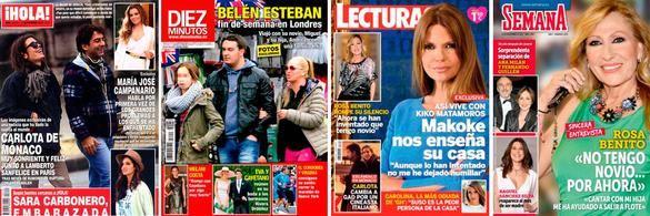 Portadas de las revistas del corazón del 4 de noviembre de 2015.