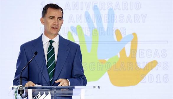 Felipe VI pide ayudar a la formación de los jóvenes para que