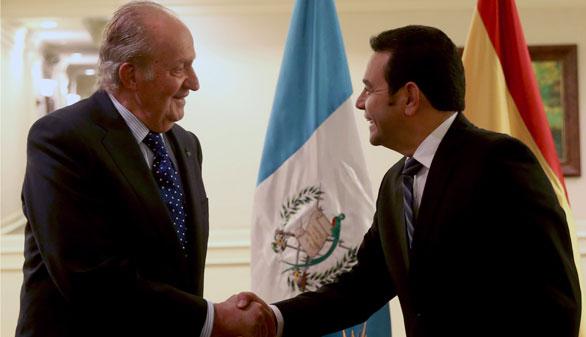 El Rey Juan Carlos retoma su agenda internacional con su visita a Guatemala
