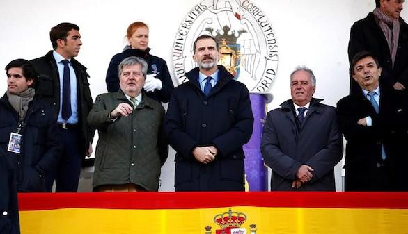 El Rey preside un minuto de silencio por el 11M en el España-Alemania de rugby