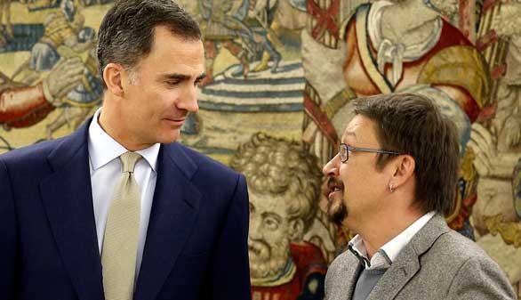 El Rey debate con el portavoz de En Comú Podem sobre una posible reforma constitucional