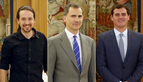 Iglesias quiere gobernar con los socialistas y Rivera con PP y PSOE