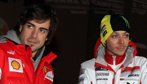 Valentino Rossi: 'A lo mejor corremos juntos Fernando Alonso y yo las 24 Horas de Le Mans'