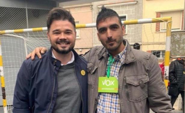 La foto de Rufián con un interventor de Vox y otras anécdotas