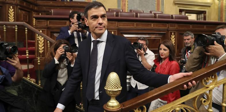 La Cámara respalda la moción de Sánchez contra Rajoy