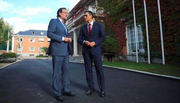 Rajoy y Sánchez, de acuerdo en la unidad de España