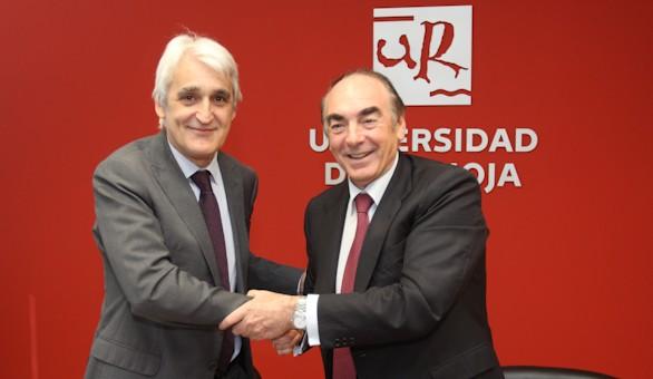 Acuerdo entre la Universidad de La Rioja y Banco Santander