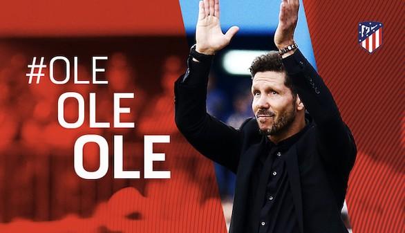 Simeone renueva como entrenador del Atlético de Madrid hasta 2020