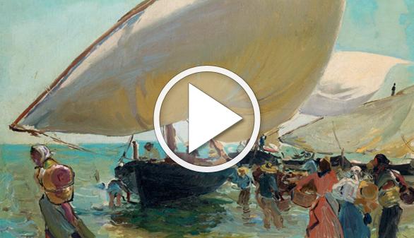 Llegada de las barcas, de Sorolla: una pequeña joya a subasta