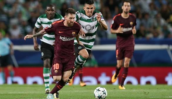 Un gol en propia desatasca al Barcelona en Lisboa |0-1