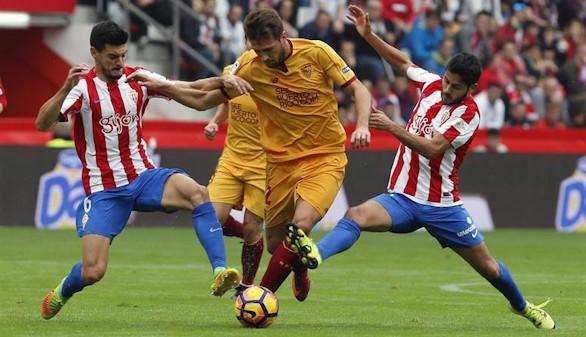 El Sevilla no aprovecha su dominio y cede un empate ante el Sporting |1-1