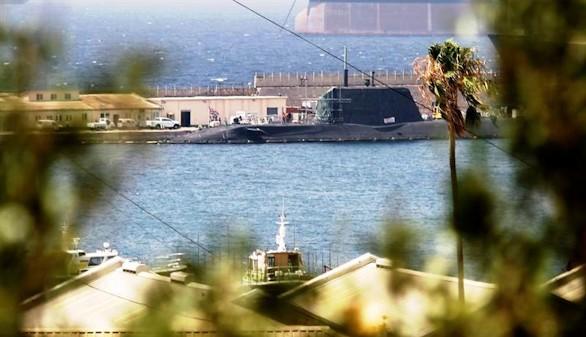 El submarino nuclear británico zarpa de Gibraltar