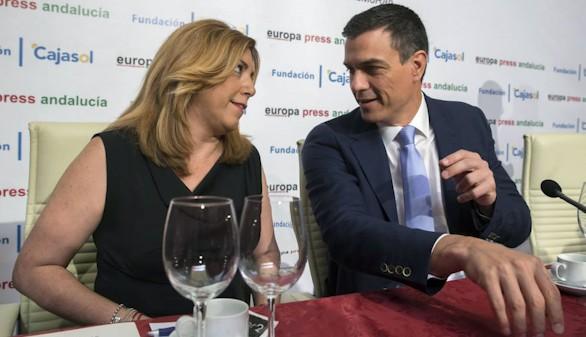 Sánchez cierra con los barones su primer 'no' a Rajoy