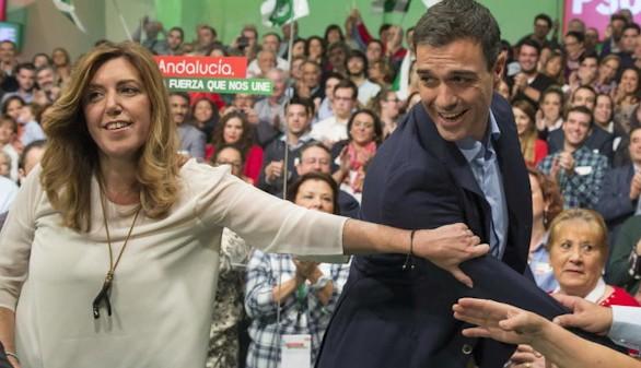 Se mantiene el pulso entre Susana Díaz y Pedro Sánchez