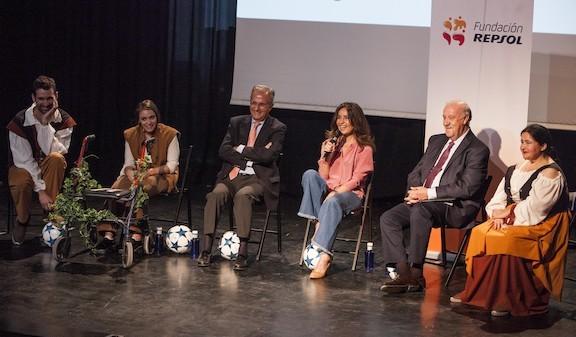 Xabier Olza, Miriam Fernández, Ignacio Egea, Blanca Marsillach, Vicente del Bosque y Adela Estévez.