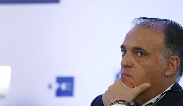 Esta es la respuesta de Javier Tebas al desafío de Piqué en Castellón
