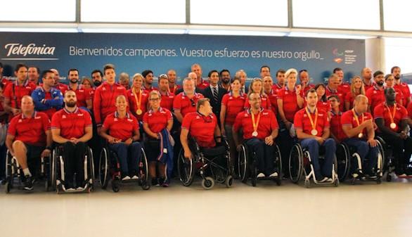 Telefónica recibió a la delegación paralímpica española y la felicita por sus éxitos en Río