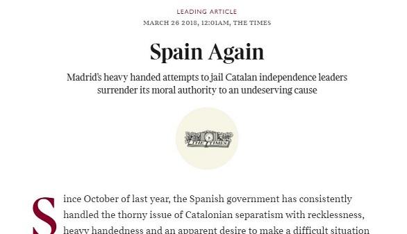 'The Times' vuelve a atacar a nuestro país: